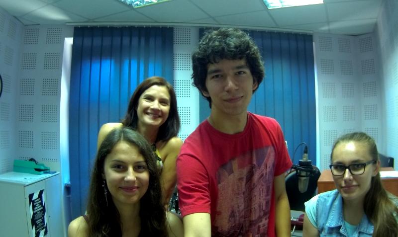 Od lewej Iwona Muszytowska-Rzeszotek ( RADIO PIK) i my- Anna Lipka, Mikołaj Wyrzykowski, Ula Bochnak
