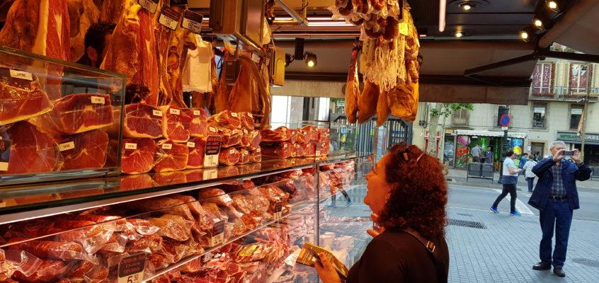 Na targu w Barcelonie